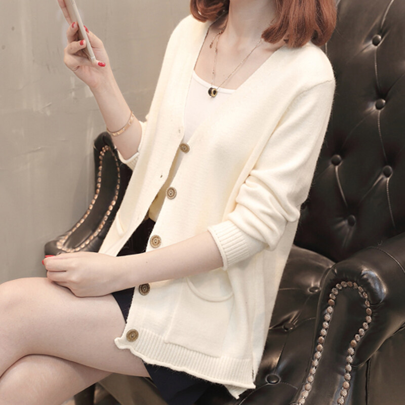 (Pre Order 14 Days JYSFashionKoreanStyleWomenKnitCardiganCollectioncol536-8822 white s