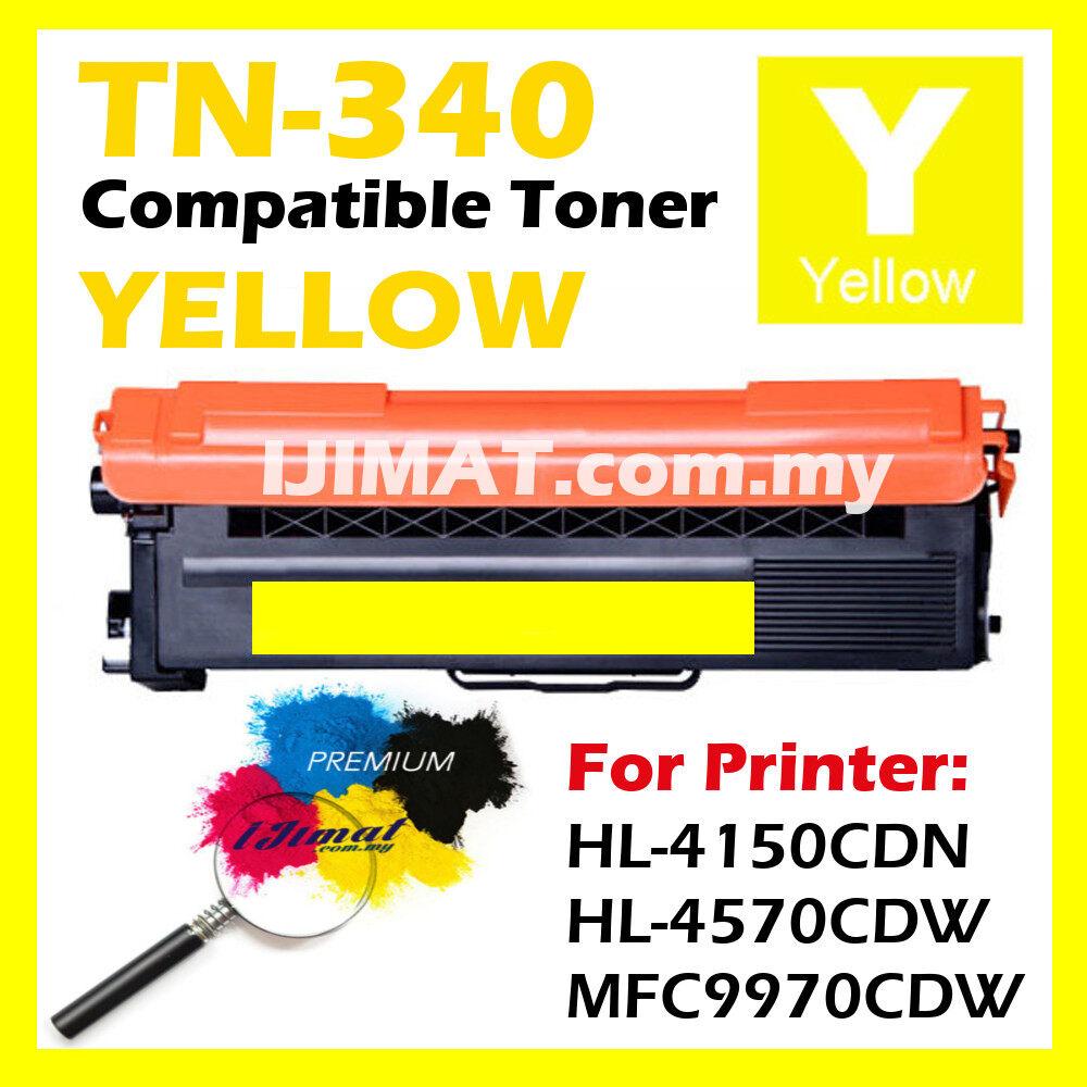 YL YELLOW Compatible Laser Toner Cartridge For Brother TN340 TN-340 340 For Color LaserJet HL 4150cdn / HL 4570cdw / MFC 9970cdw / HL-4150cdn / HL-4570cdw / MFC-9970cdw / HL4150 cdn / HL4570 cdw / MFC9970 cdw Printer Ink