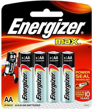 [MPLUS] ENERGIZER MAX BATTERY AA 4S