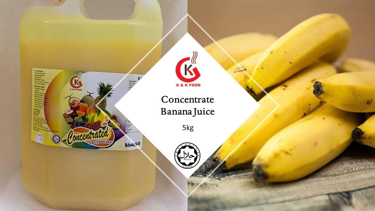 [100% JAKIM HALAL] 5kg Concentrate Banana Juice/ Banana Milk Shake/ Banana Ice Blended/ Stock Cukup!!!