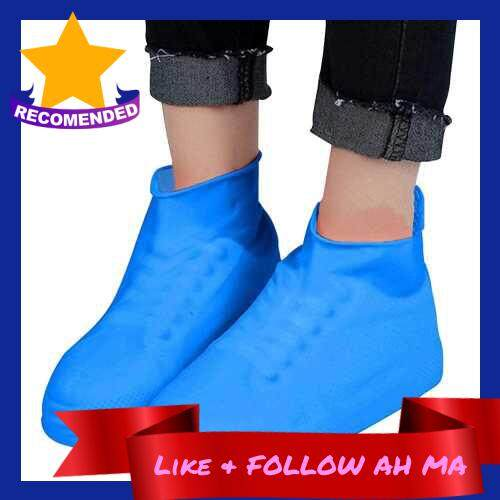 Best Selling Shoes Cover Rain Shoes Cover Wear-resistant Non-slip Waterproof Shoes Cover for Adult Children Latex Shoe Cover (Blue)