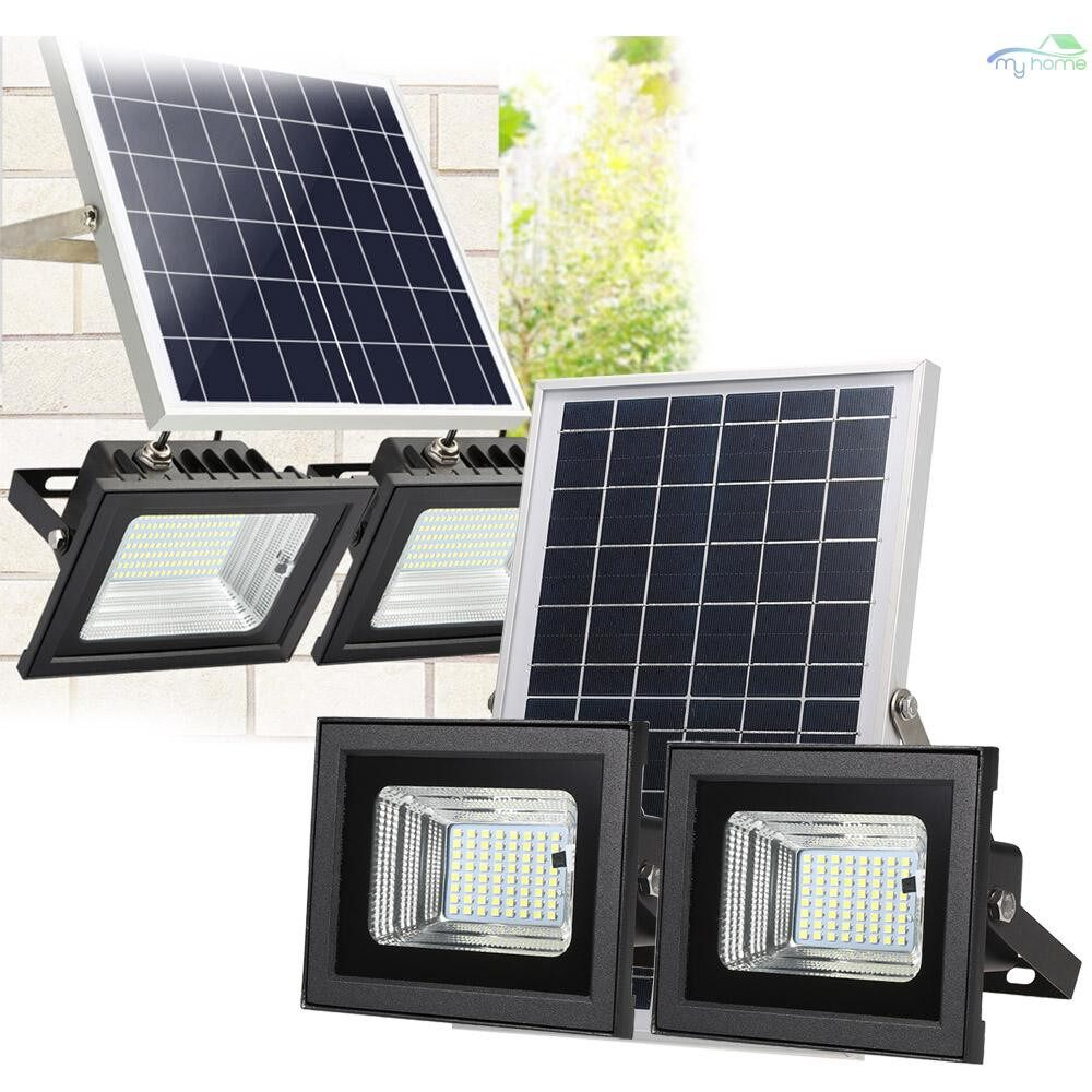 Lighting Fixtures & Components - Solar Dual-head Flood Light with Remote Control for 30%/60%/80% Brightness 126 SMD LEDs WIRELESS IP - 126 SMD LEDS / 98 SMD LEDS / 64 SMD LEDS / 42 SMD LEDS