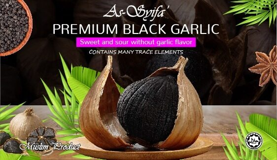 [MUSLIM PRODUCT] As-Syifa' Organic Fermented Sweet & Sour Black Solo Garlic l Bawang Hitam