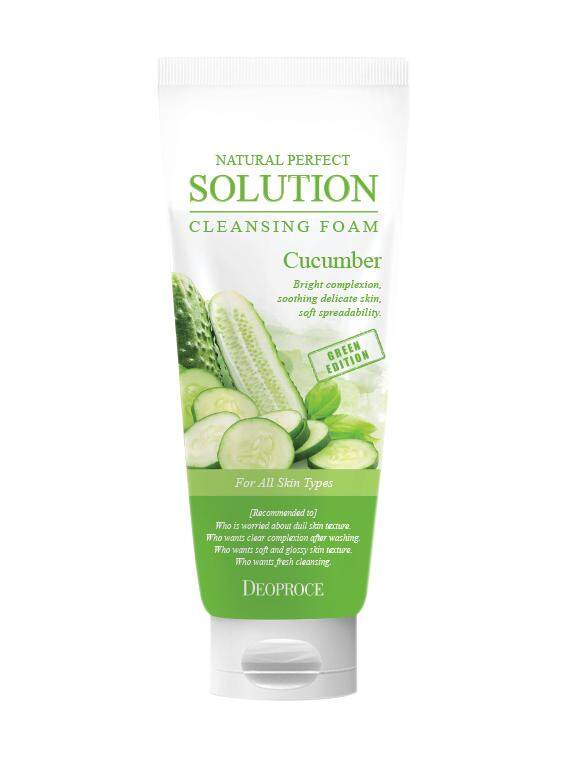 Deoproce Natural Perfect Solution Cleansing Foam Cucumber 170gm
