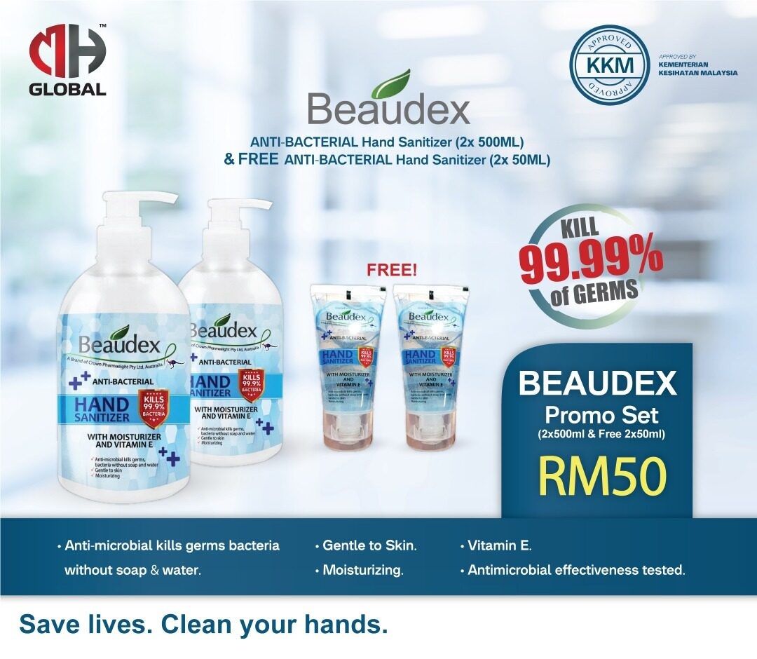 Buy 2 Free 2 Hand Sanitizer Beaudex With Vitamin E 70% Alcohol