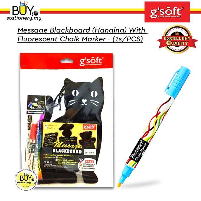 G'soft Message Blackboard (Hanging) With Fluorescent Chalk Marker - (1s/PCS)