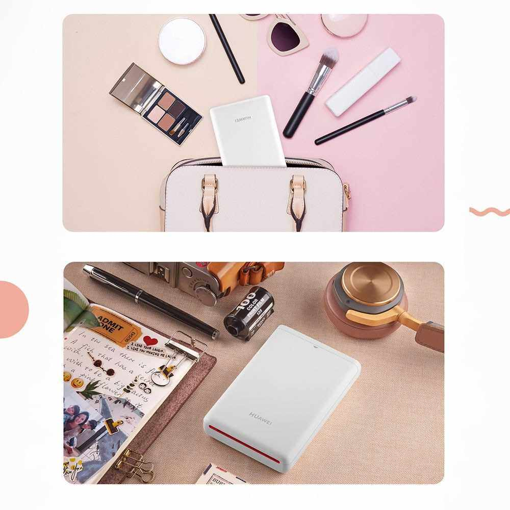 HUAWEI Pasteable Photo Paper 2 * 10 Sheets Photographic Pocket Paper Paste Photo Paper for HUAWEI Photo Printer (White)