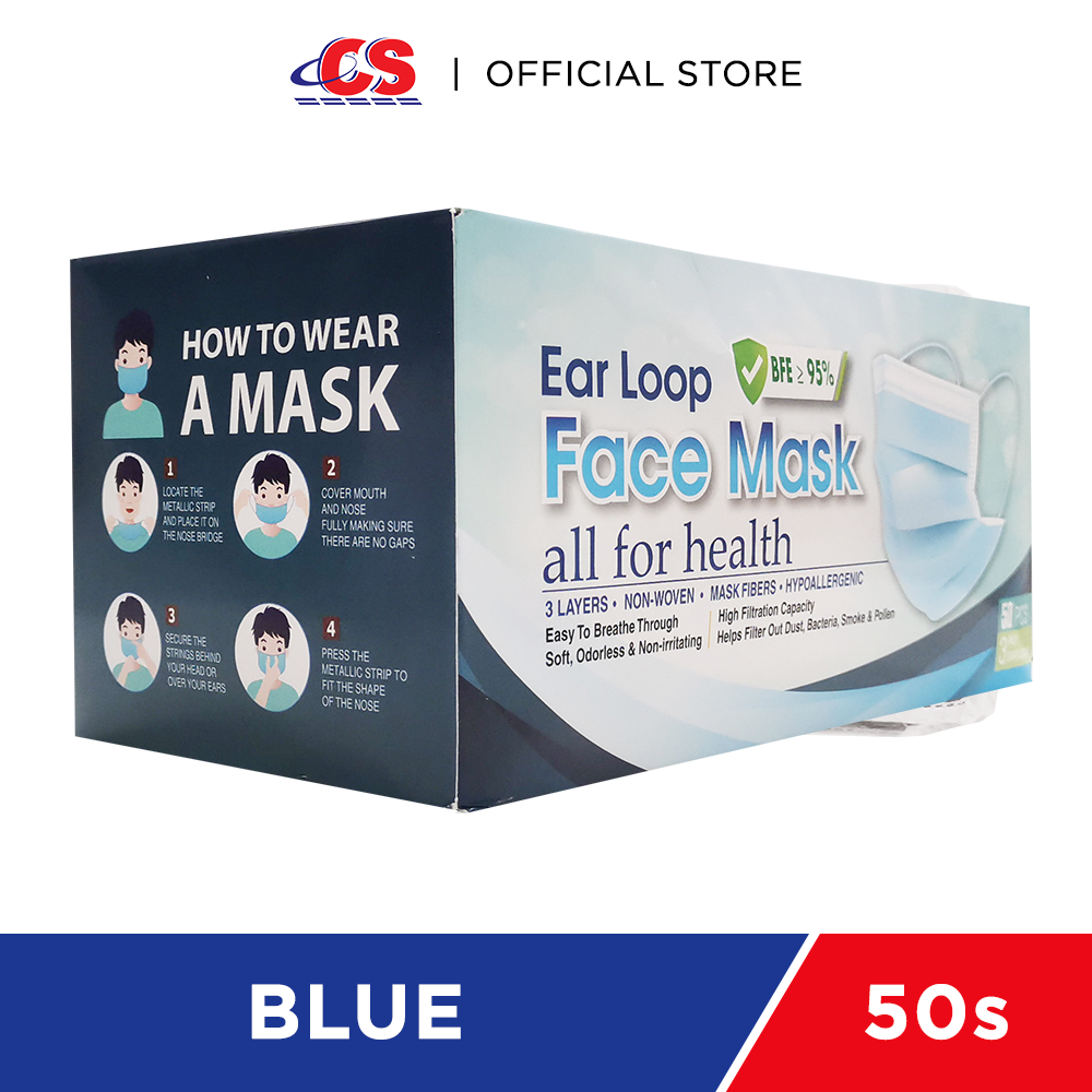 SIMPLY K 3PLY Ear Loop Adult Face Mask Blue 50s