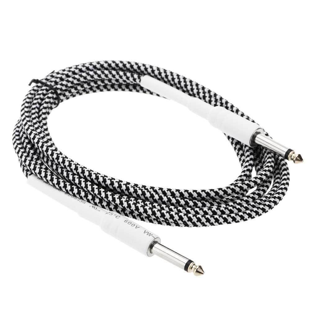 Mono Male to 6.35mm Mono Male Cable Wire Cord for Guitar Bass Instrument
