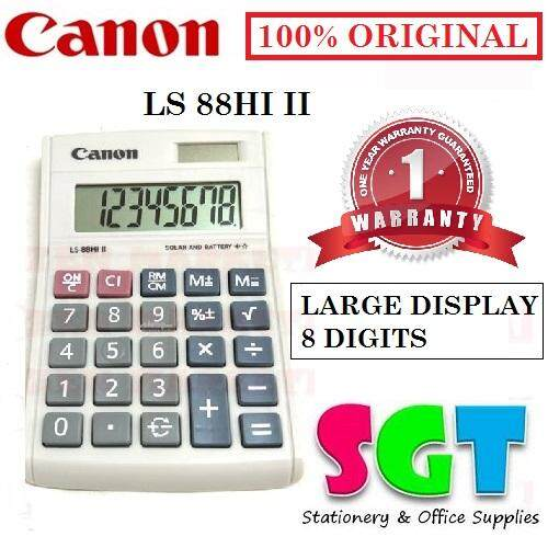 Canon Calculator LS-88Hi III - 8-Digit Mini Desktop Calculator