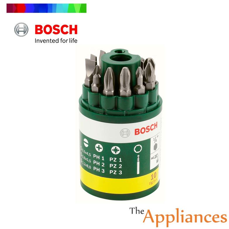 BOSCH 10pcs ScrewDriver Tool Bit Set - 2607019454