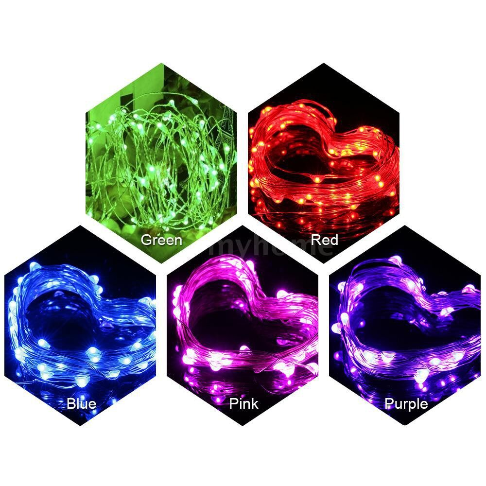 Lighting - 4.5V 6W 10 Meters 100 LED Fairy String Light Battery Powered Operated IP65 Water Resistance - PURPLE-TYPE 3 / PURPLE-TYPE 2 / PURPLE-TYPE 1 / PINK-TYPE 3 / PINK-TYPE 2 / PINK-TYPE 1 / GREEN-TYPE 3 / GREEN-TYPE 2 / GREEN-TYPE 1 / BLUE-TYPE