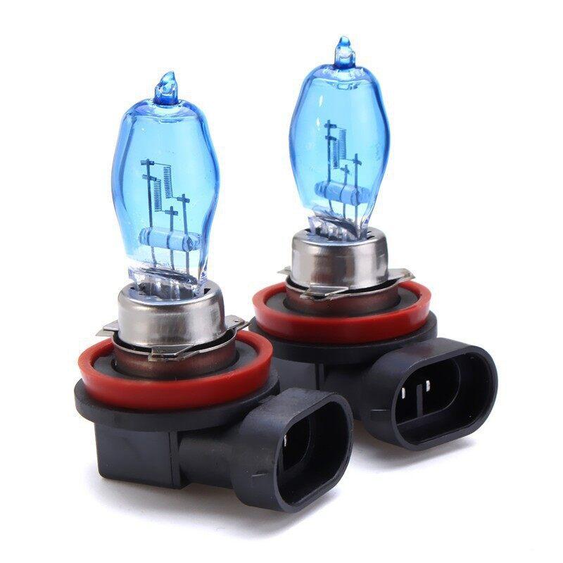Car Lights - 2 PIECE(s) H11 100W 8500K White HID Headlight Xenon Halogen Fog Light Bulbs - Replacement Parts