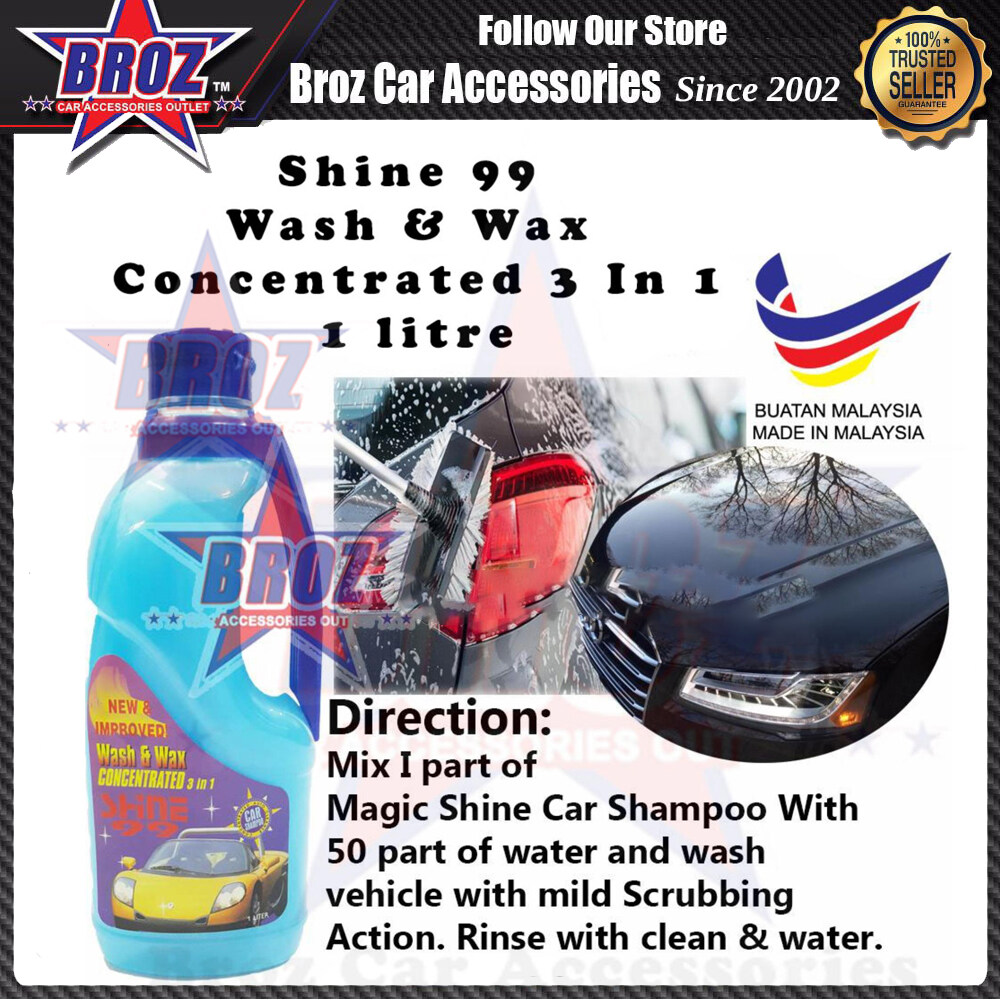 Wash & Wax Concentrated 3 in 1 Shine 99 - 2 Liter
