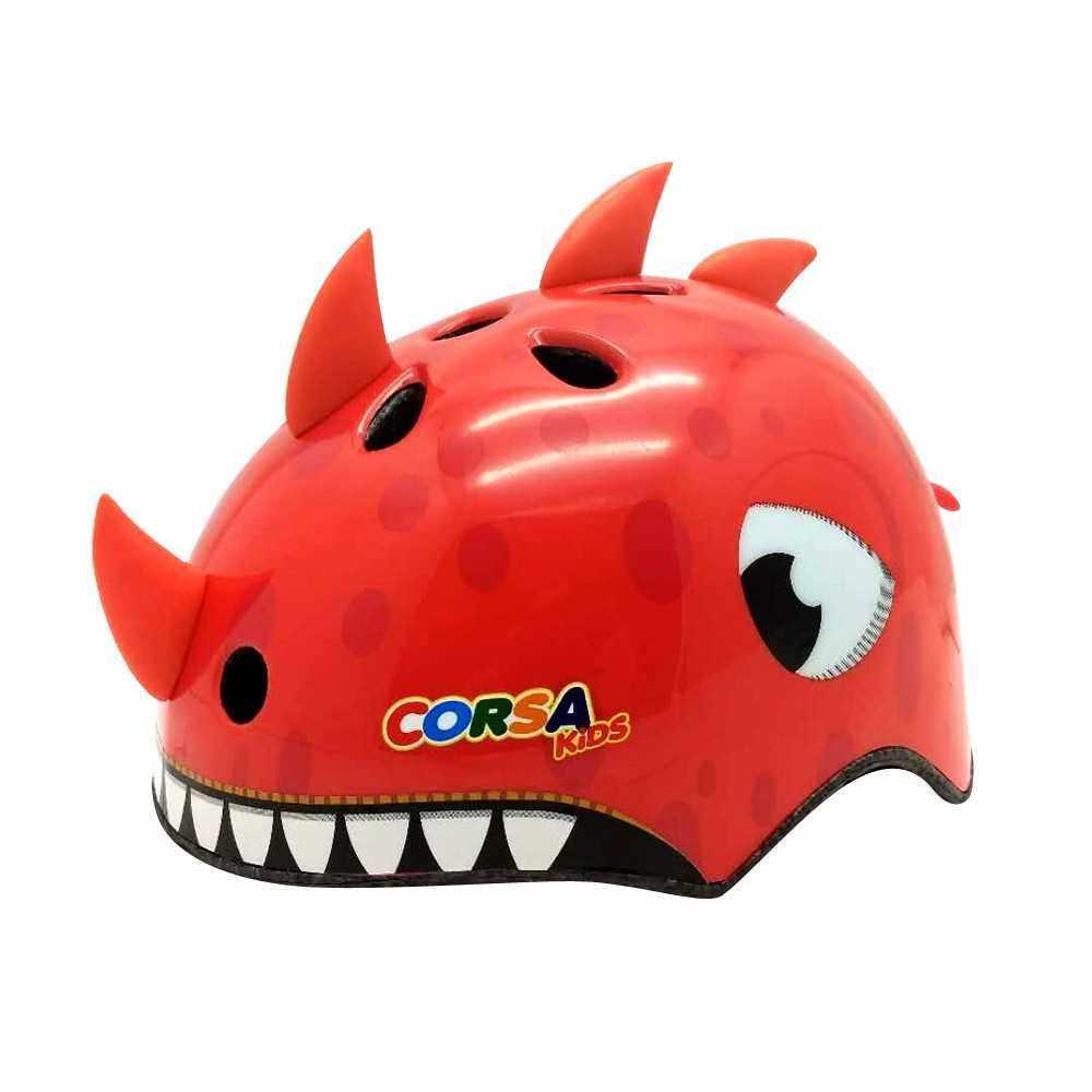 Best Selling Kids Helmets Safety Helmet Lightweight Cute Pattern Breathable Vents Shock-absorbing Bike Cycling Equipment Sport (6S)
