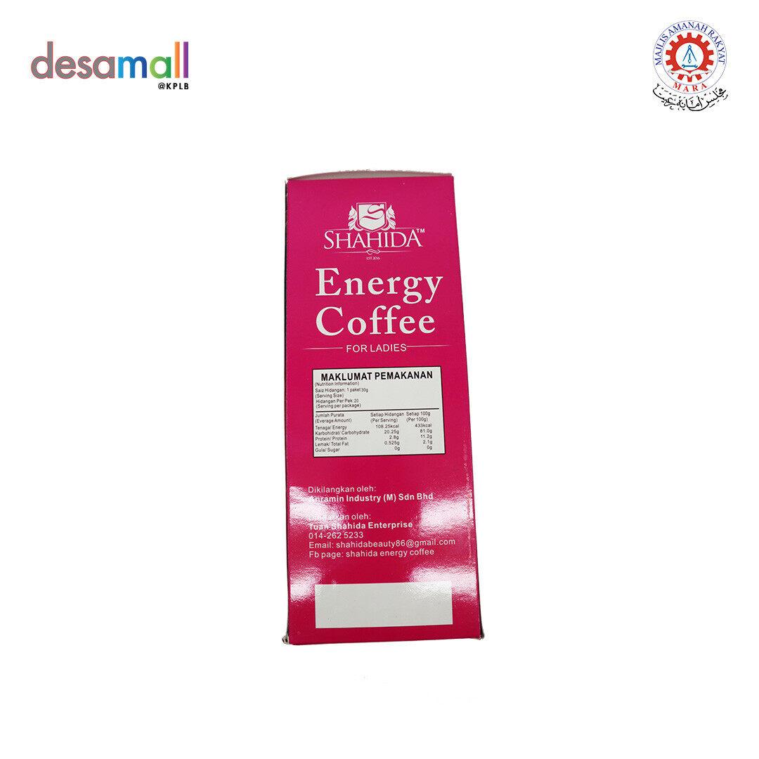 SHAHIDA Energy Coffee For Ladies ( 30g x 20 sachets)