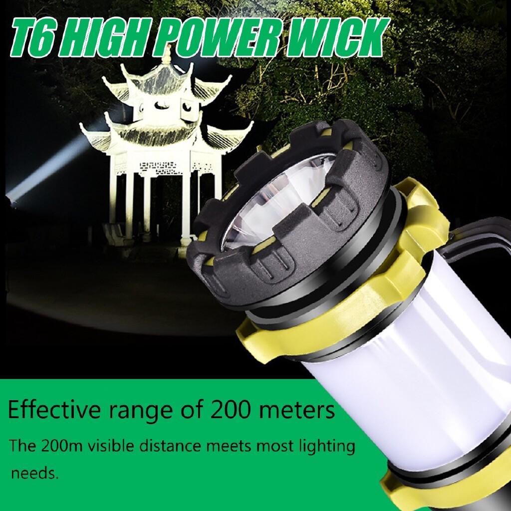 Outdoor Lighting - 2000LM LED Spotlight Power Torch Work Light Candle Flashlight LED - ORANGE / GREEN
