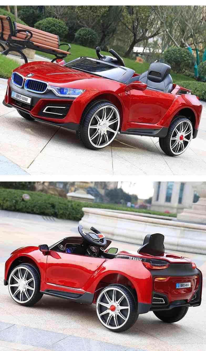 6V Childrens Electric Car Four-Wheel Dual-Drive Independent Swing Remote Control Toy Car Early Education Machine Can Take KidsOriginal eq Toys for boys