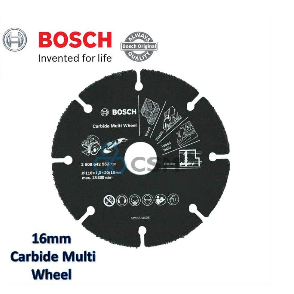 Bosch 2608642952 Carbide Multi Wheel 110mm x 20/16mm Clampshell