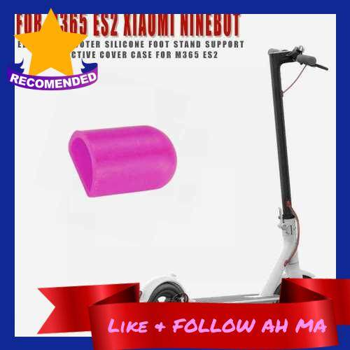 Best Selling Silicone Foot Support Cover Kickstand Protective Cover Compatible with Xiaomi M365 Ninebot ES2 ES4 Electric Scooter (Pink)