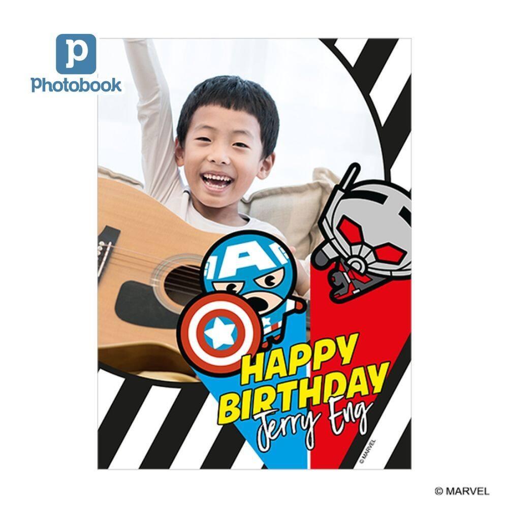[e-Voucher] Photobook Marvel Avengers 5 x 7 Flat Greeting Card - 10 Identical Pieces