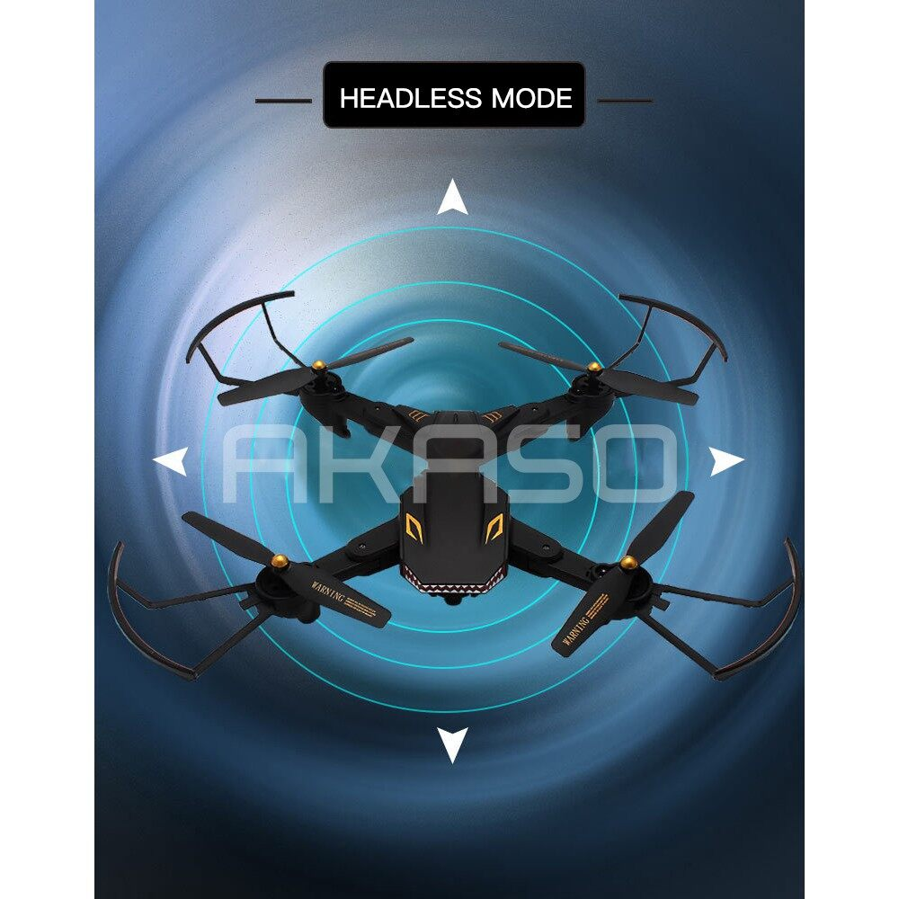 VISUO XS809S RC Drone Quadcopter WiFi FPV 2.0MP Camera 720P HD Altitude Hold - 0.3MP + 1 BATTERY / 2.0MP + 1 BATTERY / 2.0MP+WIDEANGLE+1 BY