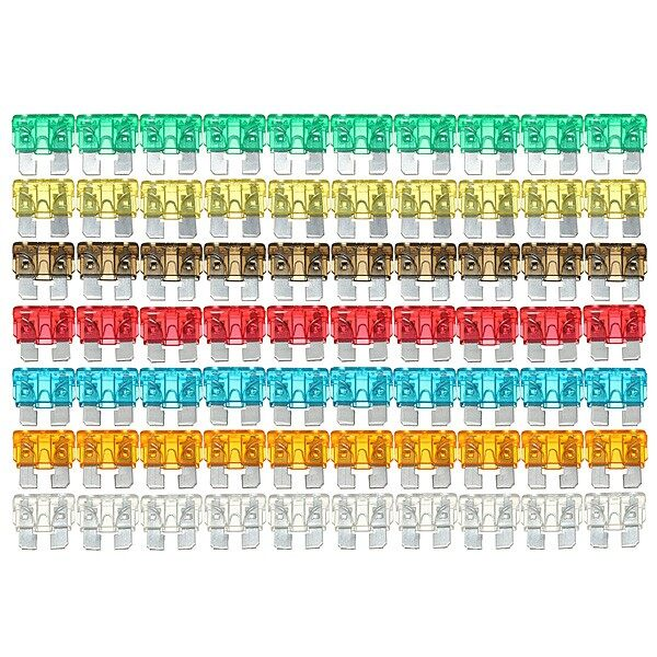 120X Multi-Color Auto Car Blade Fuse Standard Assorted Mixed - Automotive