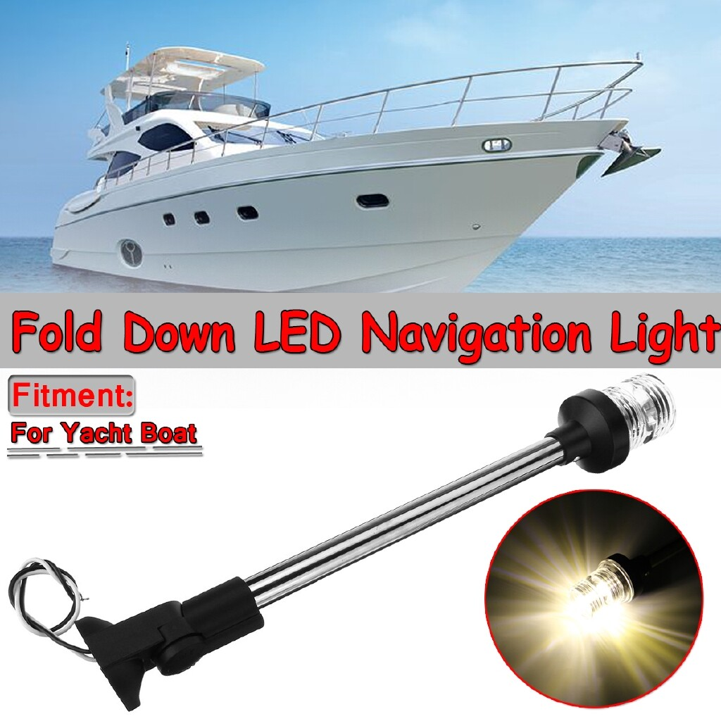 Car Lights - 16 Marine Boat Yacht Light LED Anchor Navigation Lamp Fold Down Anchor Lights hotestcar - Replacement Parts
