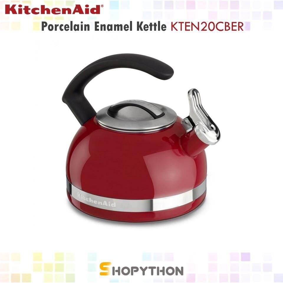 KitchenAid 2 Quart Porcelain Enamel Kettle with C Handle (1.9L) Empire Red
