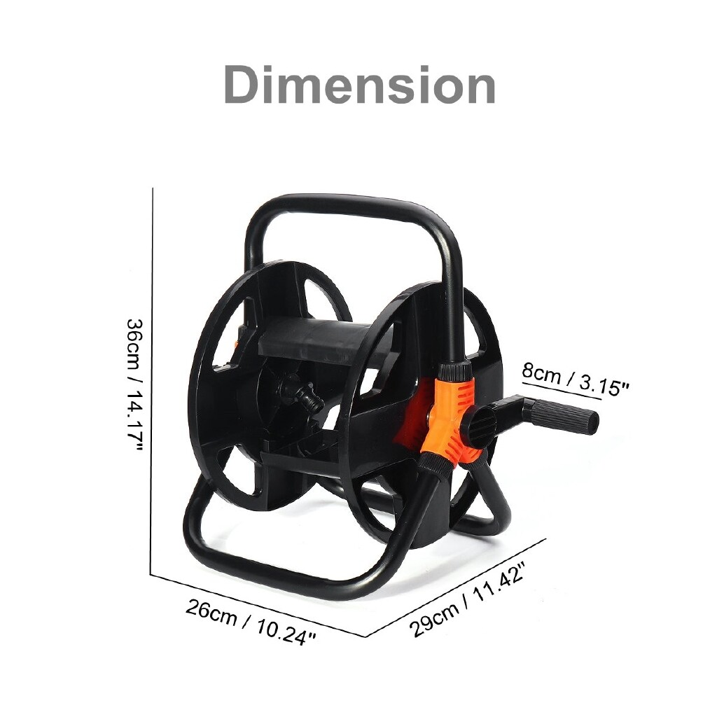 DIY Tools - 15-20m Hose Reel Free Standing Compact Garden Watering Pipe Cart Winder PORTABLE - Home Improvement