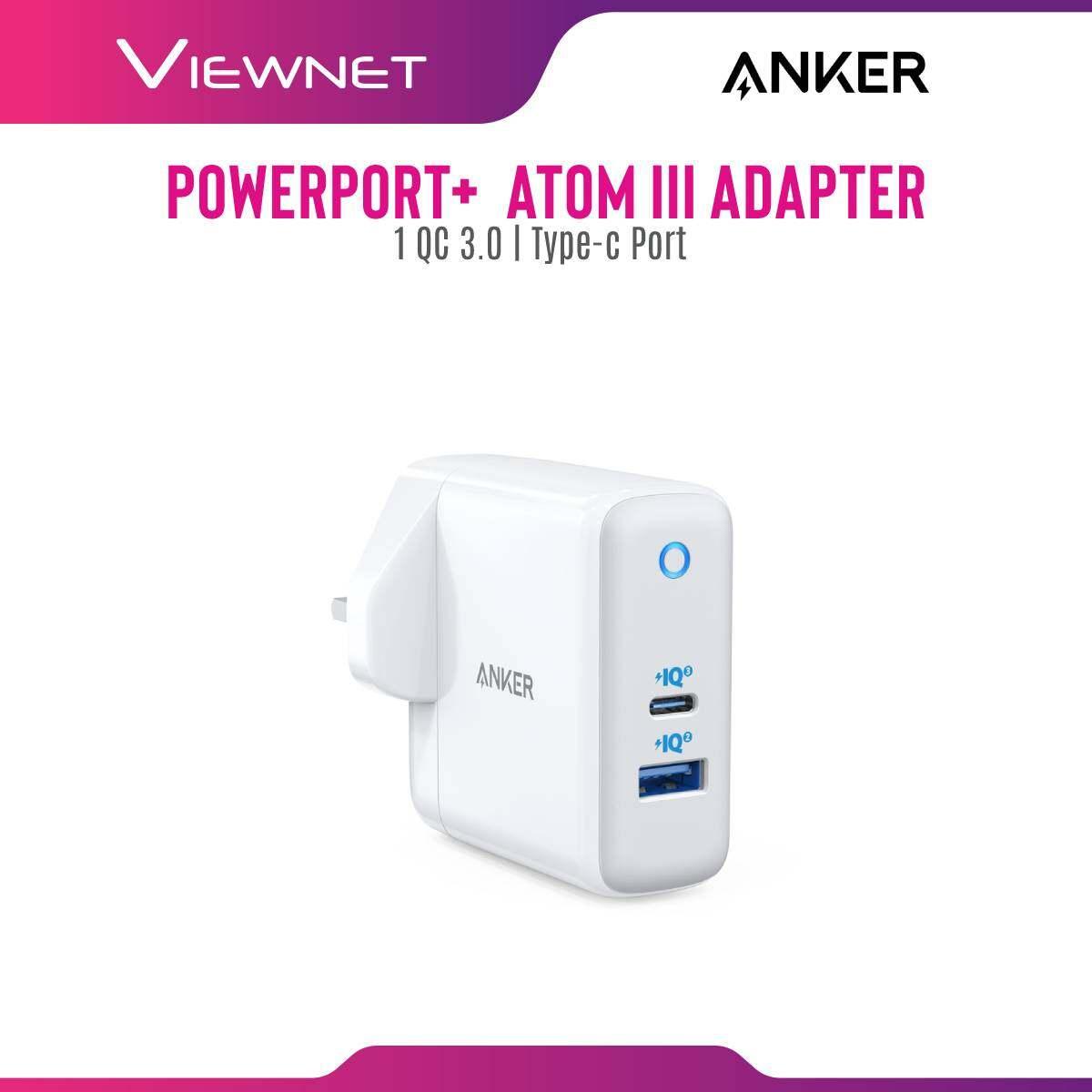 Anker PowerPort+ Atom III 1-QC 3.0 + 1 Type-c Port Adapter