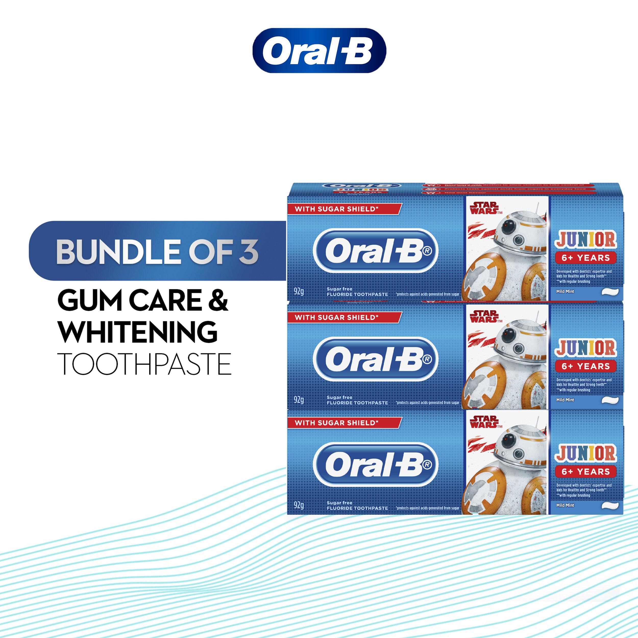 Oral-B Kids Starwars Junior 6+ Years Toothpaste 92g [BUNDLE OF 3]
