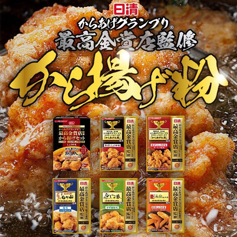 NISSIN Kinsyou Karaageko Koubashi Syouyuaji100g 日本炸鸡粉调味料 6148