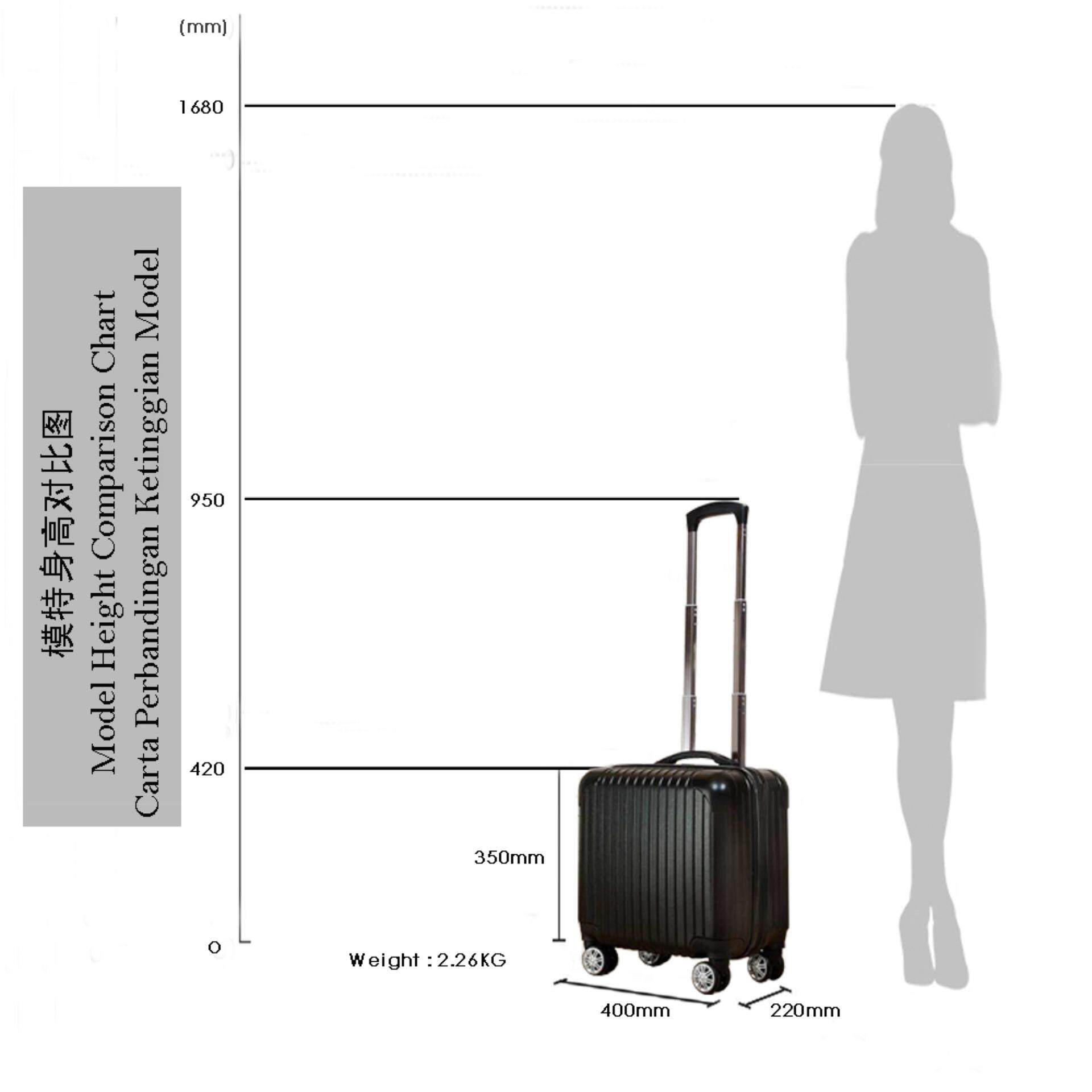 [Ready Stock] Branded ABS PVC Luggage 16 inch Hand Carry Suitcases