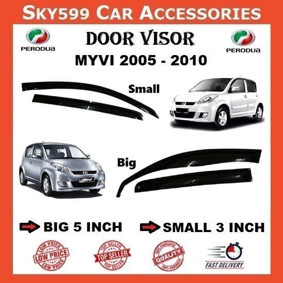 Perodua Myvi 2005-2010 5inch Door Visor /air press?1set 4 Door?