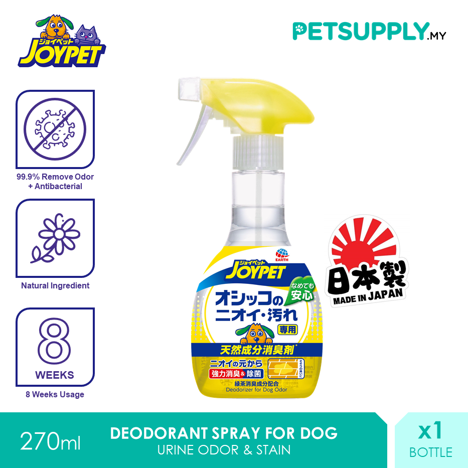 JoyPet Natural Deodorant Spray For Dog Urine Odor And Stain 270ml [Hygiene Anjing - Petsupply.my]