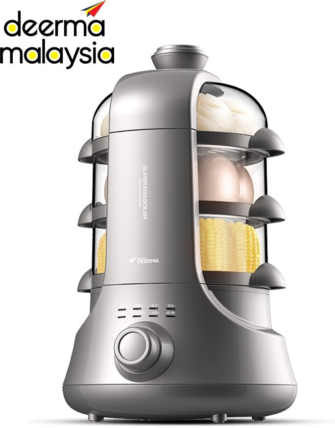 Deerma ZD02 / ZD02B Super Egg Boiler 4 Layers (6in1: Fried, Soup, Boil, Steam, Sterilizer, Cook)
