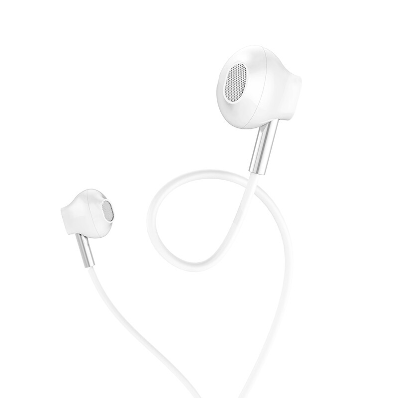 On-Ear Headphones - HOCO M57 Professional 3.5mm Music HiFi Stereo Earphone Headphones With Mic for Smartphones - BLACK / WHITE