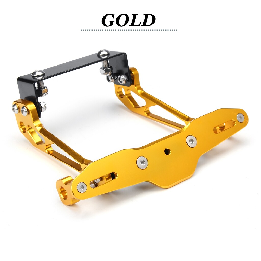 Moto Accessories - Motorcycle Aluminum Alloy Number Plate Frame Brackets for Honda /Kawasaki - ORANGE / GREY / BLUE / GOLDEN / RED / GREEN / BLACK