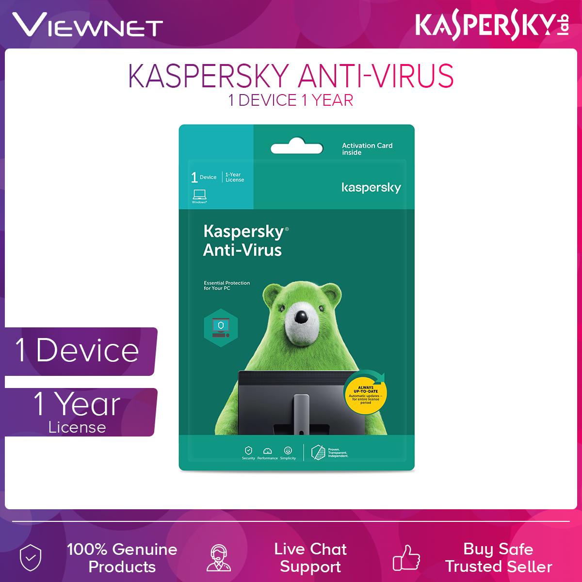 Kaspersky Anti-Virus 1 Device 1 Year License