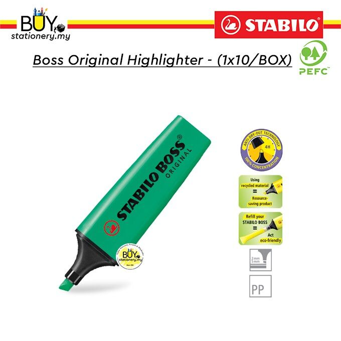 Stabilo Boss Original Highlighter - (1x10/BOX)