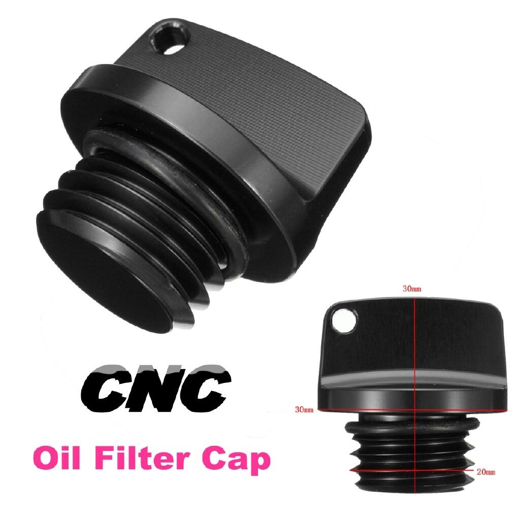 Moto Accessories - CNC Aluminum 20mm Thread Size Oil Filler Cap Plug Racing Engine Tank Cover - TITANIUM / GOLD / GREEN / BLUE / RED / BLACK