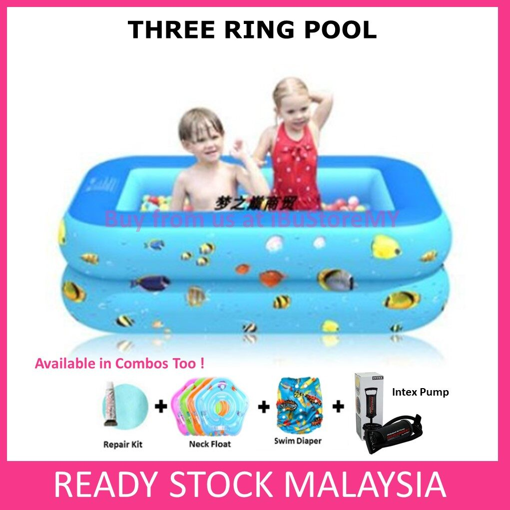 Swimming Pool Baby Kid Inflatable 4 Layer Bathtub Swimming Pool 3 Ring Pool Toys for boys