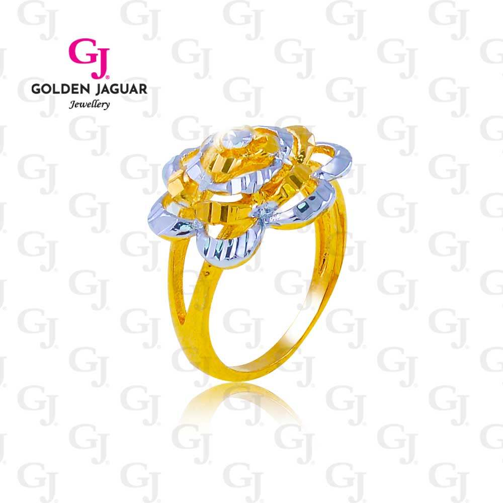 GJ Jewellery Emas Bangkok Gold Silver Plated Woman Ring - Cincin Watsonia Flower (BKK-88814)