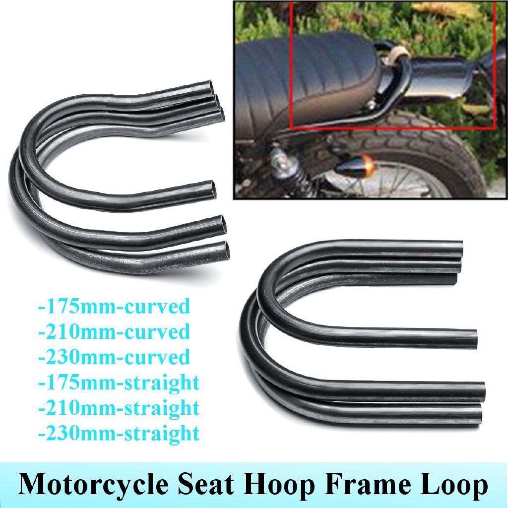 Moto Accessories - 175/210/230mm Universal Motorcycle Backseat Tail Rear Seat Hoop Frame For Honda - 175MM-BEND / 230MM- STAIGHT / 175MM- STAIGHT / 210MM- STAIGHT / 210MM-BEND / 230MM-BEND