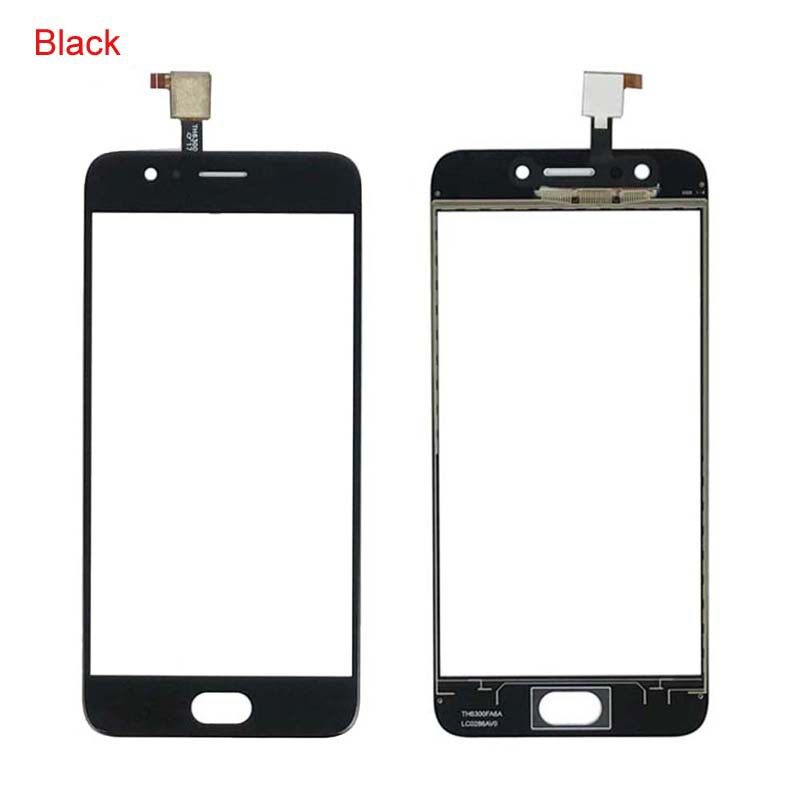100% Black White Front Glass Panel Touch Screen for 5.0 UMIDIGI C2 + tools - BLACK / WHITE