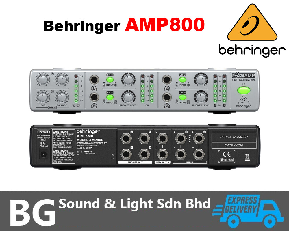 [SHIP OUT EVERYDAY]Behringer AMP800 - MINIAMP Compact 4-Channel Headphone Amplifier