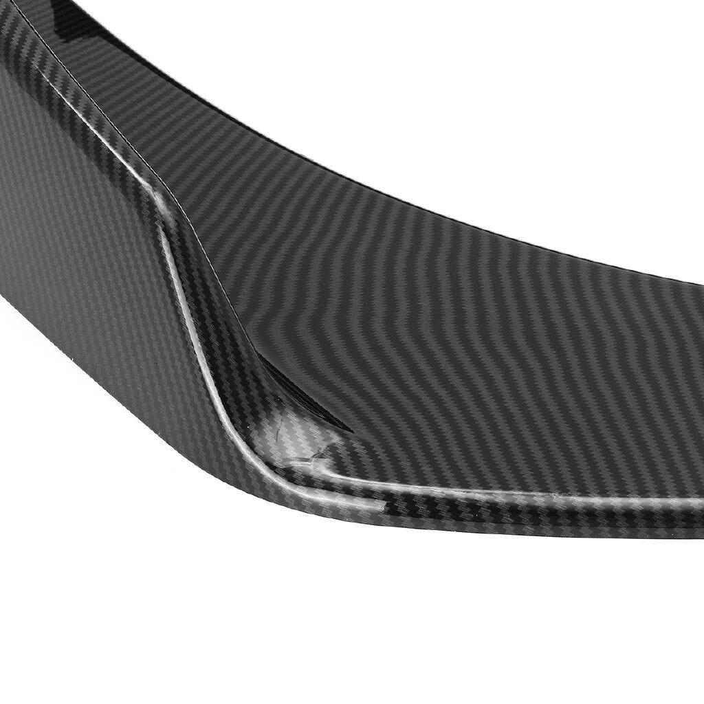 Engine Parts - Carbon Fiber Look Front Deflector Spoiler Splitter Diffuser Bumper Canard Lip - Car Replacement