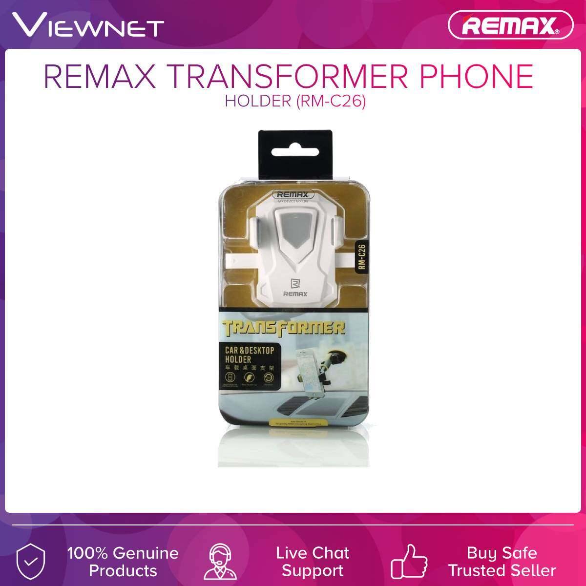 Remax (RM-C26) Transformer Series Phone Holder for Vehicle