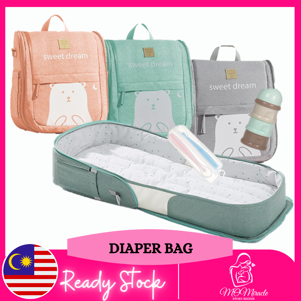 Diaper Backpack, Large Capacity Baby Bag, Multi-Function Travel Backpack Nappy Bags, Nursing Bag, Fashion Mummy, Roomy Waterproof for Baby Care, Stylish and Durable